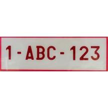 PLAQUE RUBIS PLEXI   ,  format spécial 34cm/1